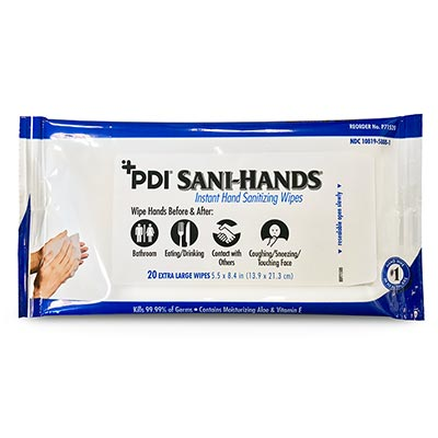 PDI Sani-Hands Instant Hand Sanitizing Wipes [P71520]