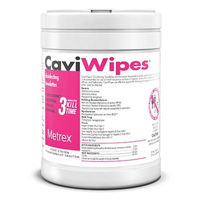 CaviWipes Germicidal Wipe 160 count Canister [13-1100]